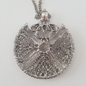 GASOLINE GLAMOUR Jewelry - CRYSTAL IRON WORK MEDALLION NECKLACE NEW